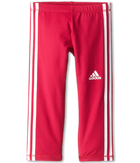 adidas Kids - Global Capri Legging (Big Kids) (Bold Pink/White) Girl
