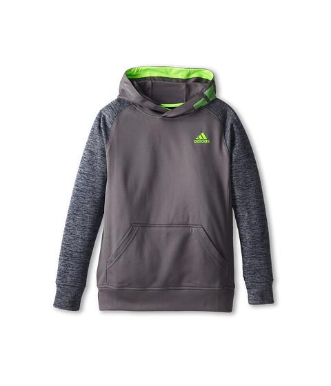 adidas Kids - Tech Fleece Pull Over (Big Kids) (Granite/Collegiate Navy Heather) Boy's Sweatshirt