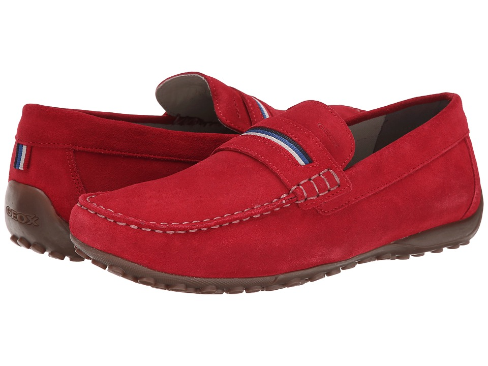 Geox - Uomo Snake Mocassino 11 (Dark Red) Men's Slip on Shoes