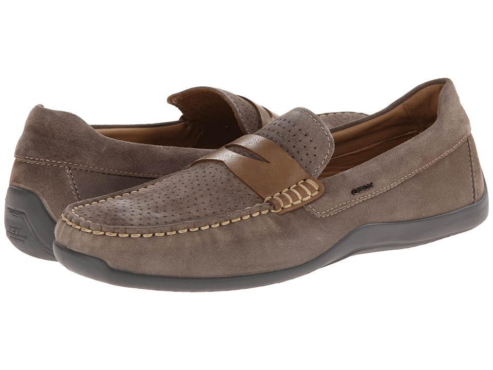Geox - U Xense Mox 3 (Dove Grey/Chestnut) Men's Slip on Shoes