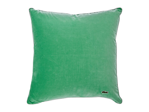Lacoste - Velvet Brushed Twill Pillow (Green/Paloma) Sheets Bedding