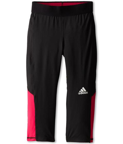 adidas Kids - Techfit 3/4 Tight (Big Kids) (Black/Bold Pink) Girl