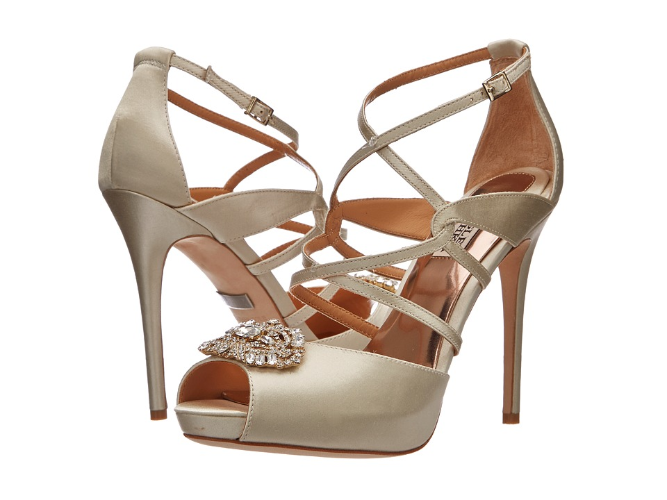 Badgley Mischka - Fischer (Ivory Satin) High Heels