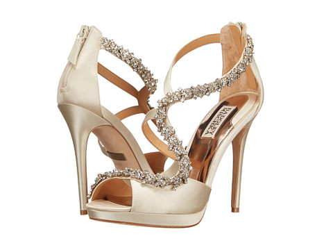 Badgley Mischka - Flair (Ivory Satin) High Heels