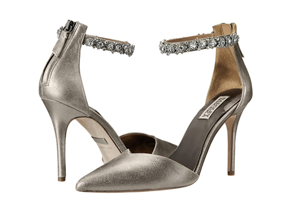Badgley Mischka - Flash II (Pewter Metallic Suede) High Heels