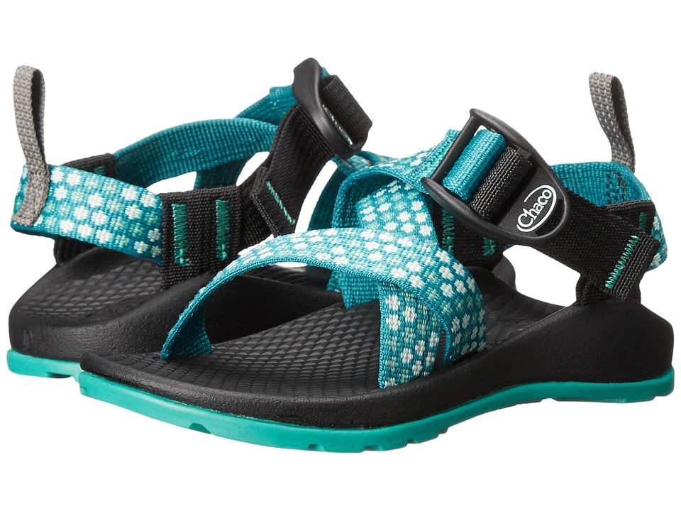 Chaco Kids - Z/1 Ecotread (Toddler/Little Kid/Big Kid) (Teal Beams) Girls Shoes