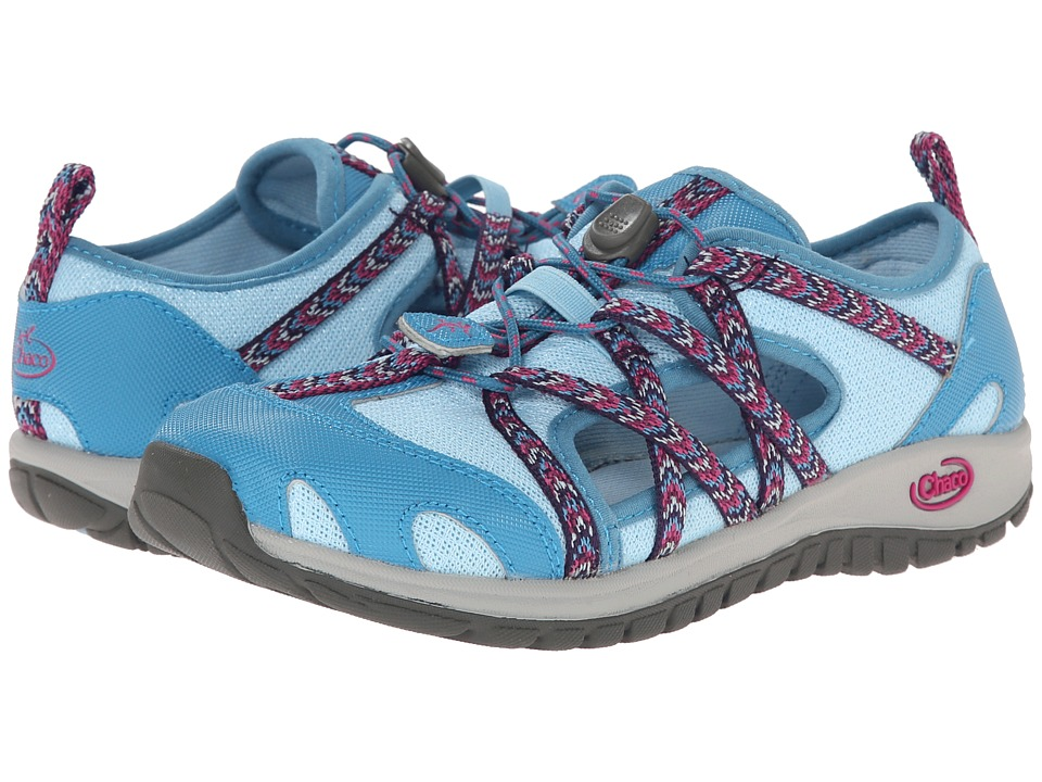 Chaco Kids - Outcross (Toddler/Little Kid/Big Kid) (Blue Crystal) Girls Shoes