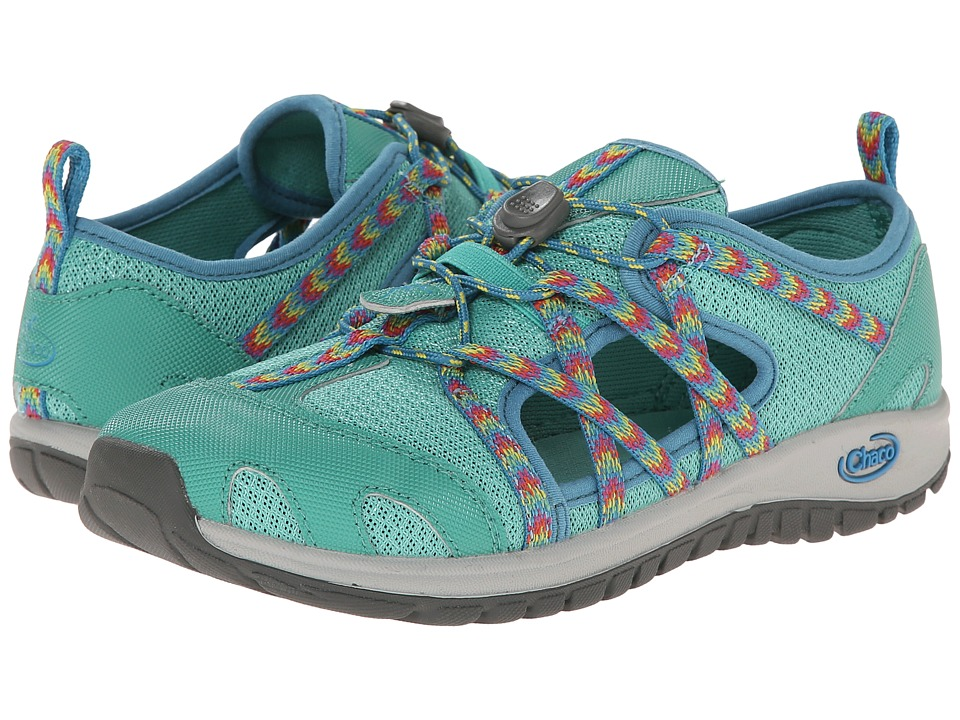 Chaco Kids - Outcross (Toddler/Little Kid/Big Kid) (Marine Green) Girls Shoes