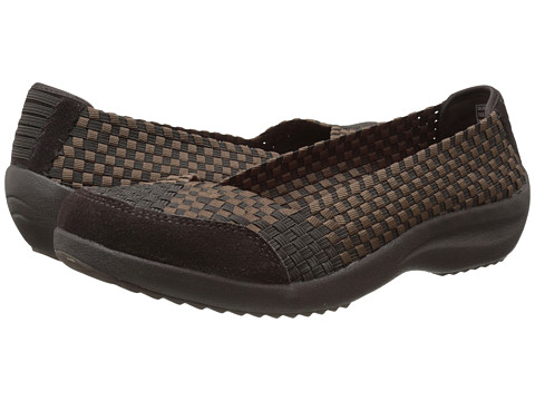 SKECHERS - Savor - Just Weave It (Chocolate) Women's Slip on Shoes