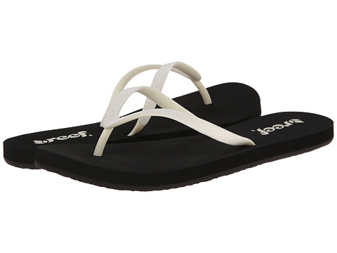 Reef - Stargazer (Black/White Glitter) Women's Sandals