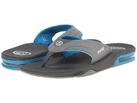 Reef - Fanning (Charcoal/Blue/Grey) Men's Sandals