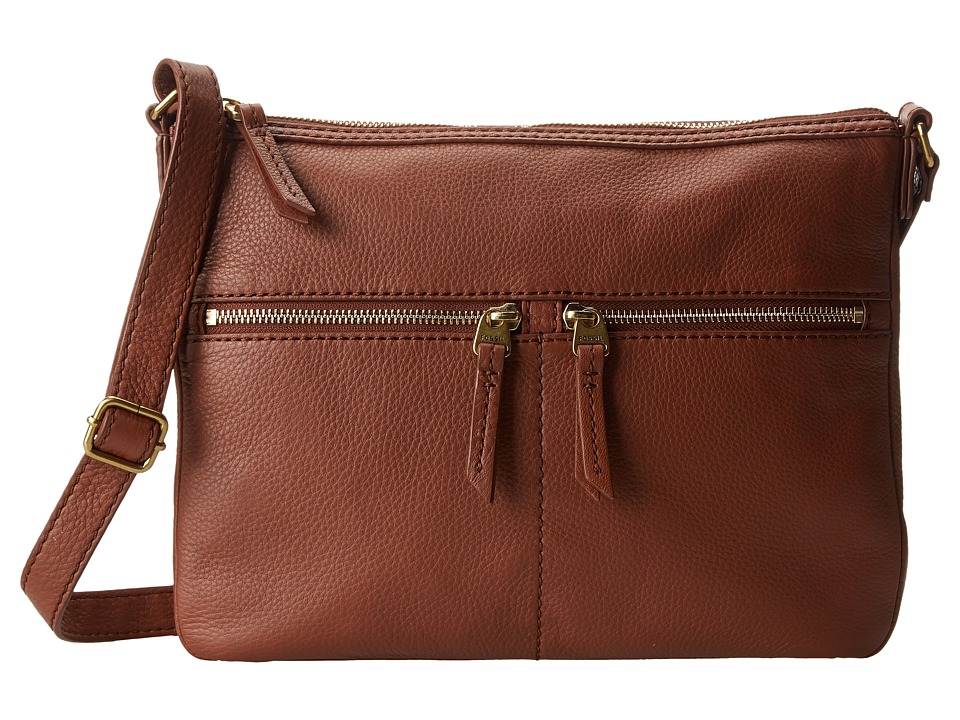 Fossil - Erin Crossbody (Brown 1) Cross Body Handbags