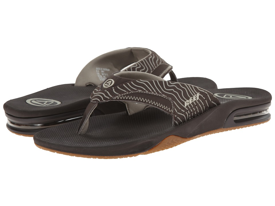 Reef - Fanning Prints (Brown/Gum Swell) Men's Sandals