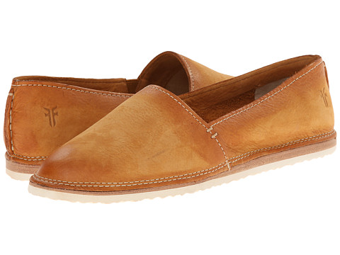 Frye - Milly A Line (Camel Sunwash Nubuck) Women's Slip on Shoes