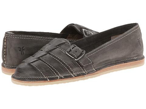 Frye - Milly Fisherman (Charcoal Sunwash Nubuck) Women's Slip on Shoes