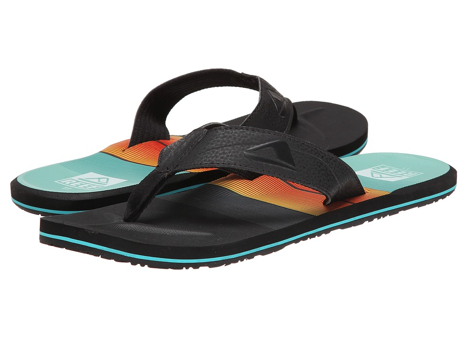 Reef - HT Prints (Turquoise/Orange/Black) Men's Sandals