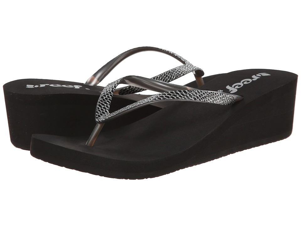 Reef - Krystal Star Sassy (Black/Silver) Women's Sandals