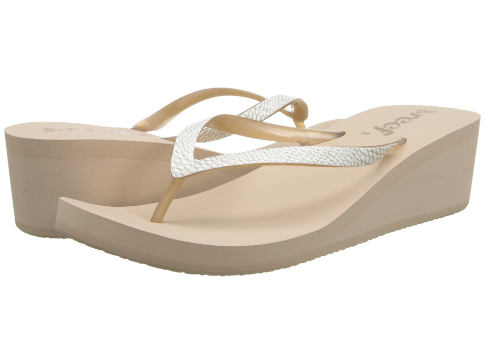 Reef - Krystal Star Sassy (Taupe/White) Women's Sandals