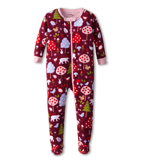 Hatley Kids - Footed Fleece Coverall (Infant/Toddler) (Forest Animals) Girl's Jumpsuit & Rompers One Piece