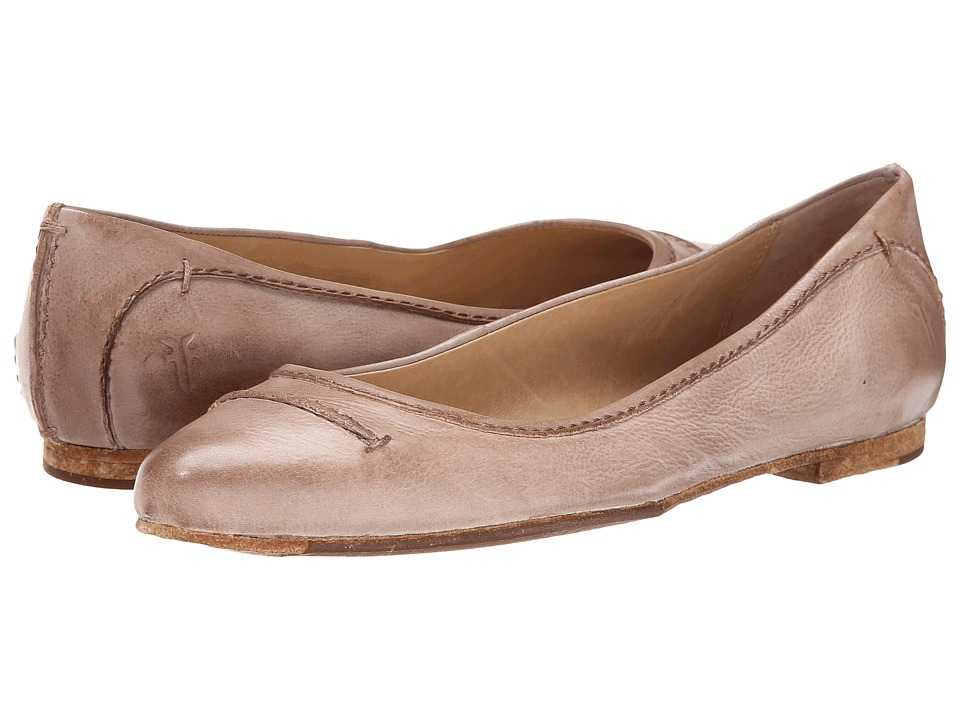 Frye - Olive Seam Ballet (Fawn Washed Smooth Vintage Leather) Women