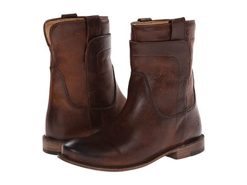 Frye - Paige Short Riding (Dark Brown Antique Pull Up) Women's Pull-on Boots
