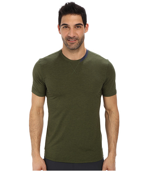 Brooks - PureProject S/S Knit Crew (Heather Olive) Men