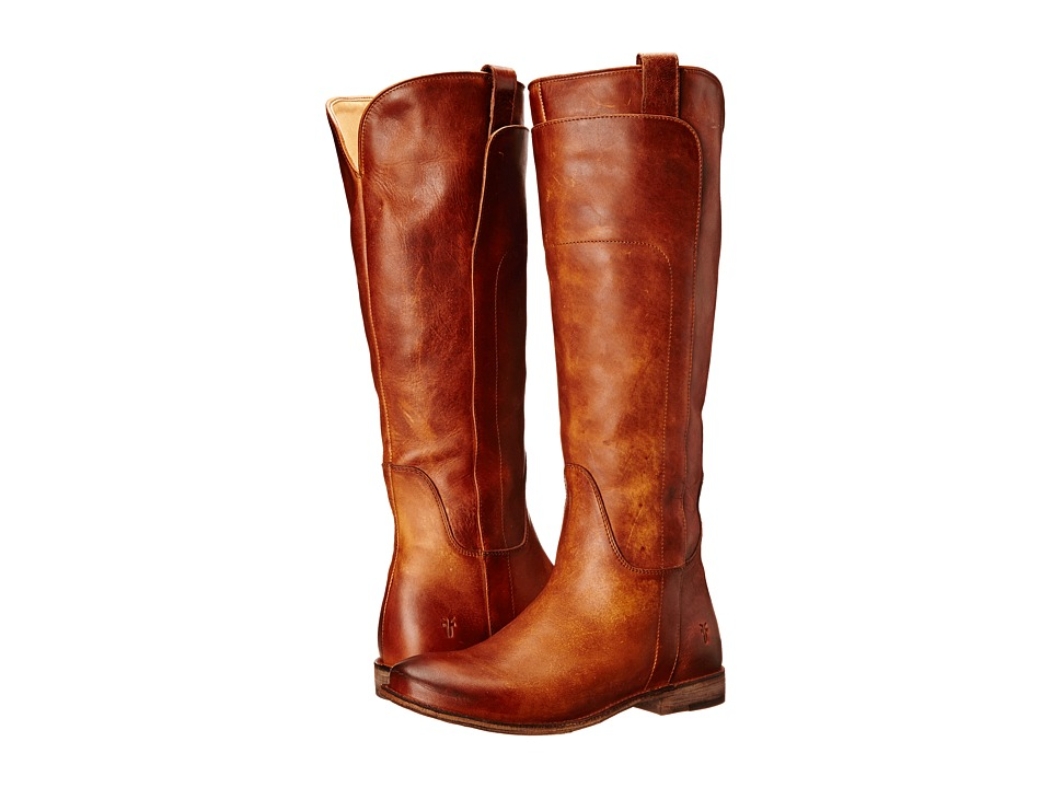 Frye - Paige Tall Riding (Cognac Antique Pull Up) Women's Pull-on Boots