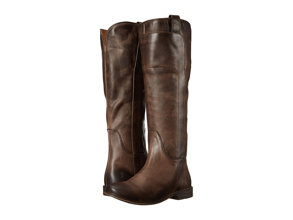 Frye - Paige Tall Riding (Slate Antique Pull Up) Women's Pull-on Boots