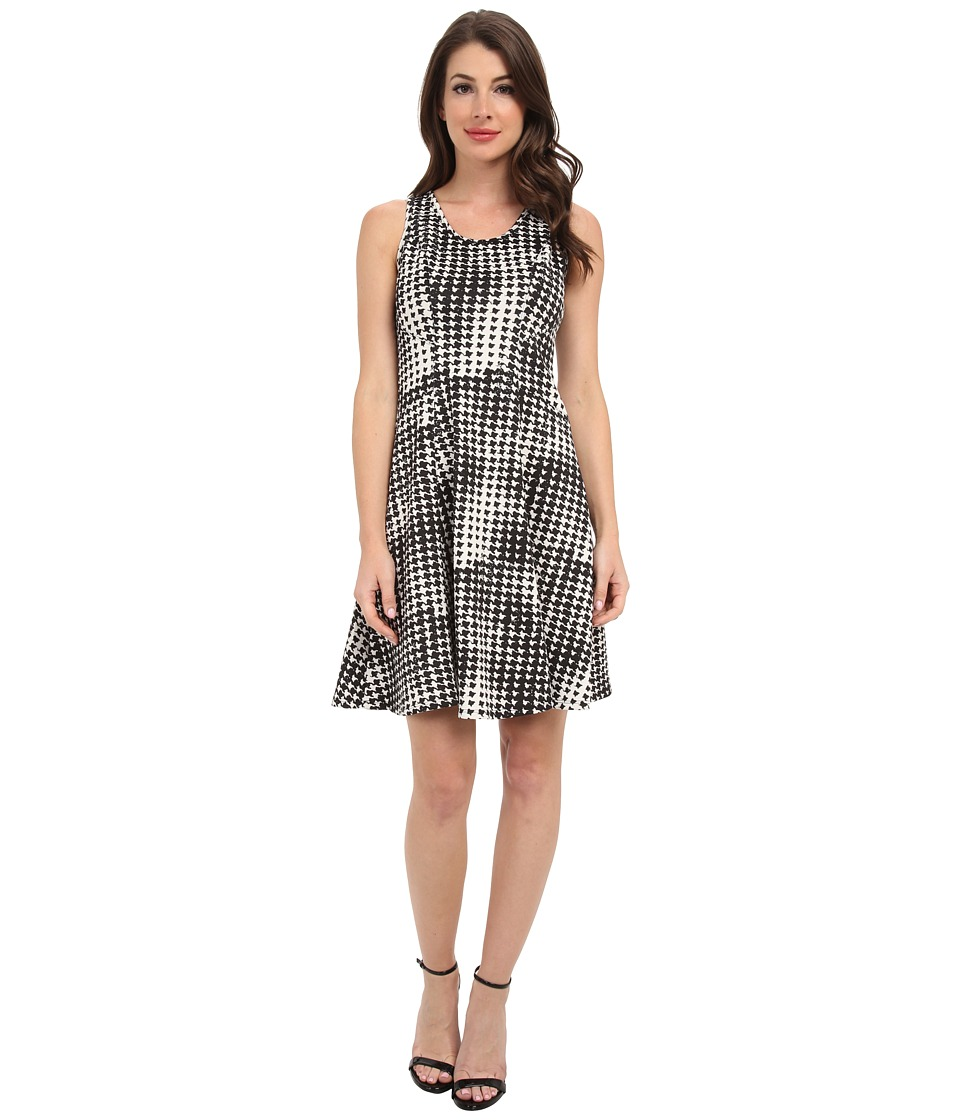 Karen Kane - Graphic Houndstooth Dress (Print) Women's Dress