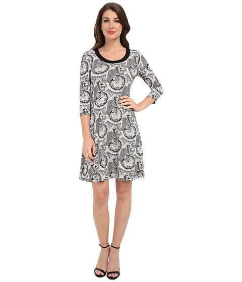 Karen Kane - 3/4 Sleeve Dress (Paisley) Women