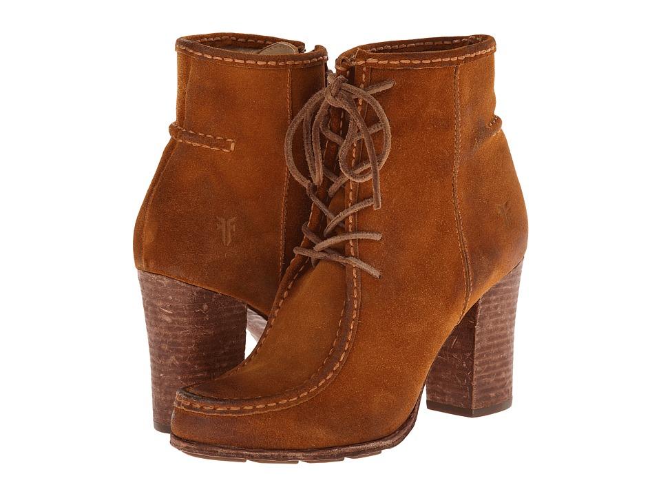 Frye - Parker Moc Short (Cognac Oiled Suede) Cowboy Boots