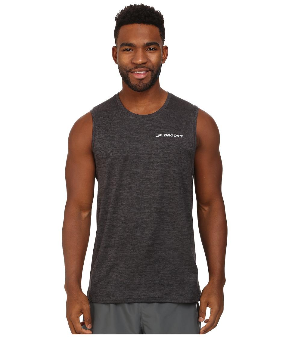 Brooks - Essential SL (Heather Black/Black) Men's Sleeveless