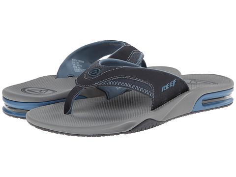 Reef - Fanning (Grey/Vintage Blue) Men's Sandals