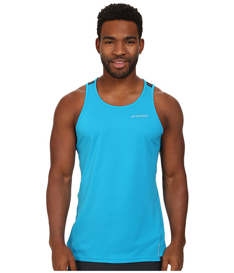 Brooks - Rev Singlet III (Atlantic/Small Black Stripe) Men