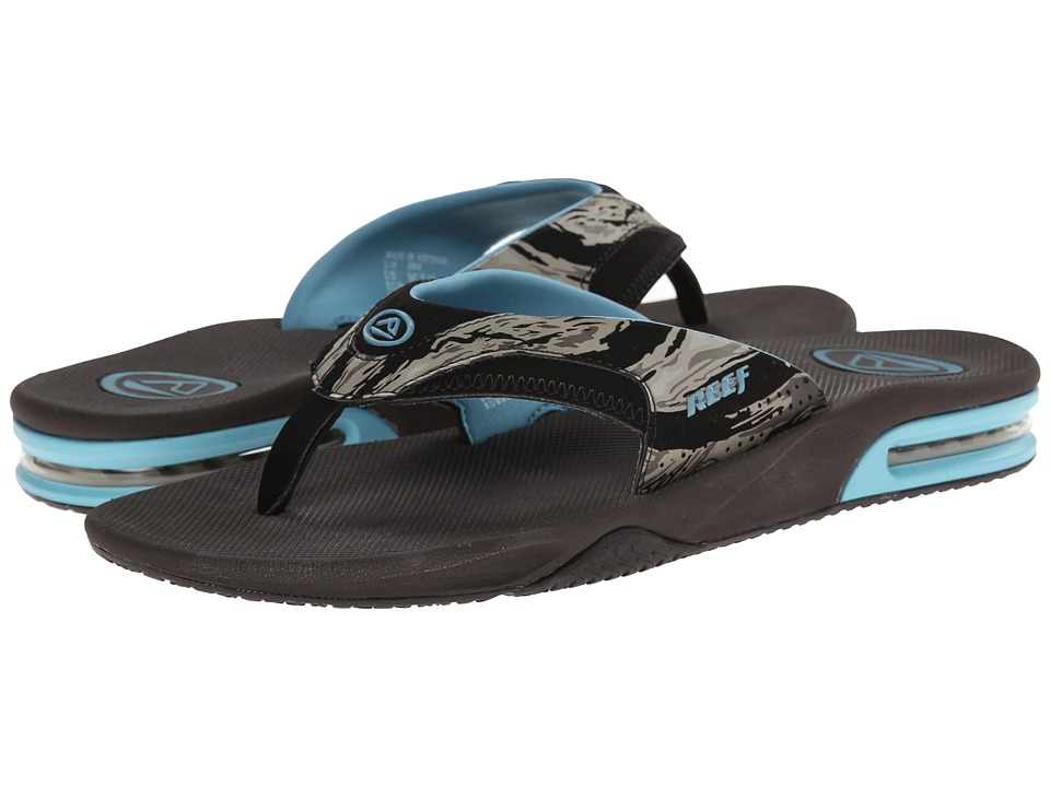 Reef - Fanning Prints (Tan Camo/Blue) Men's Sandals