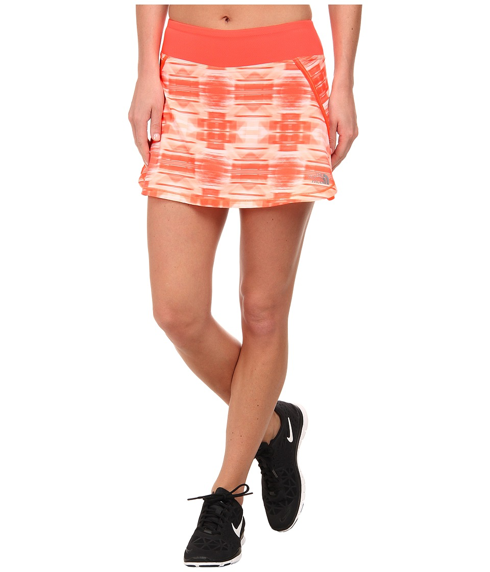 The North Face - Eat My Dust Skirt (Fiery Coral Brushed Plaid) Women