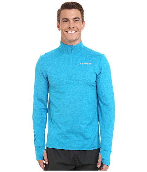 Brooks - Essential 1/2 Zip III (Heather Atlantic) Men