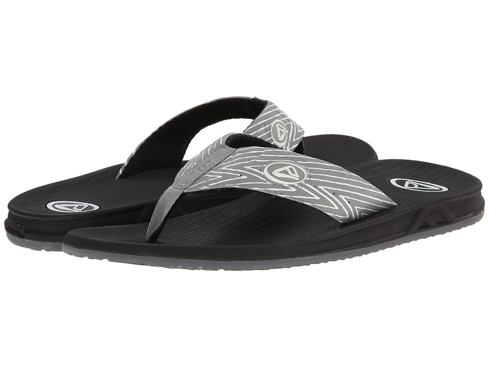 Reef - Phantom Prints (White/Grey Zig Zag) Men's Sandals