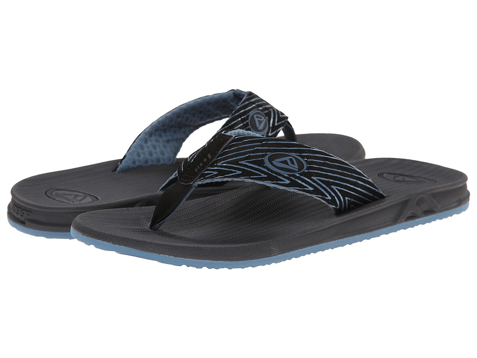 Reef - Phantom Prints (Blue Zig Zag) Men's Sandals