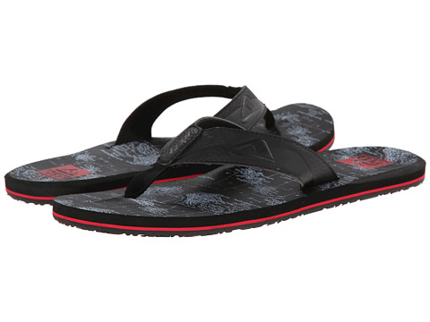 Reef - HT Prints (Black/White Hawaii) Men