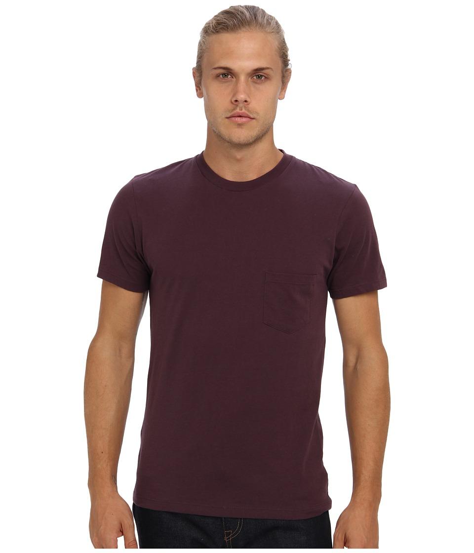 Alternative - Perfect Pocket Tee (Eggplant) Men's Short Sleeve Pullover