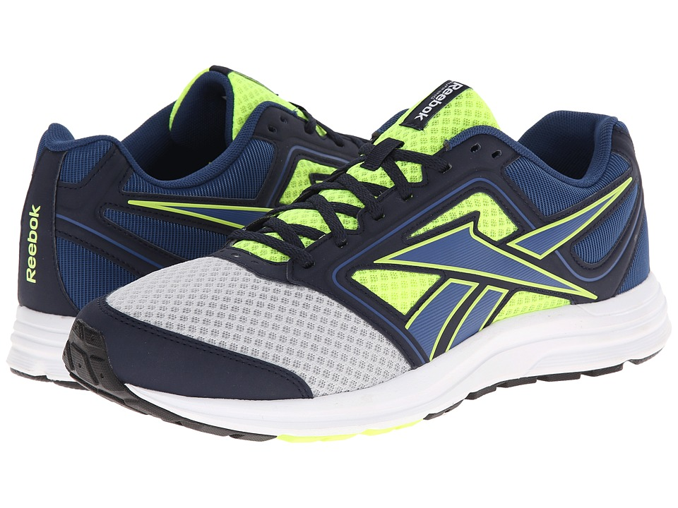 Reebok - Zone CushRun MT (Matte Silver/Solar Yellow/Batik Blue/Faux Indigo/White/Black) Men's Shoes