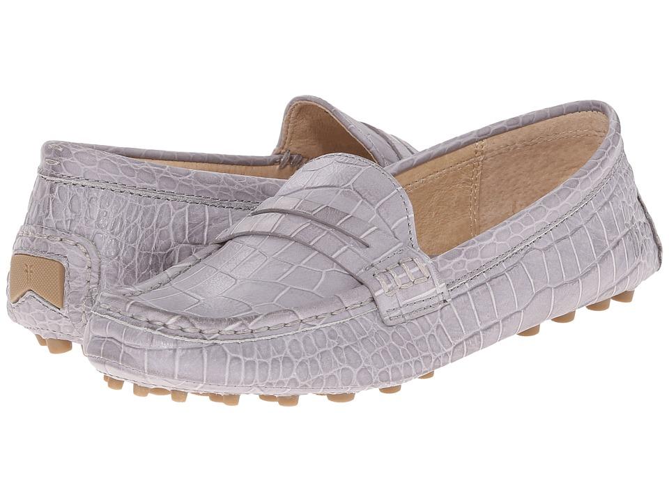 Frye - Rebecca Penny (Grey Embossed Full Grain) Women's Slip on Shoes