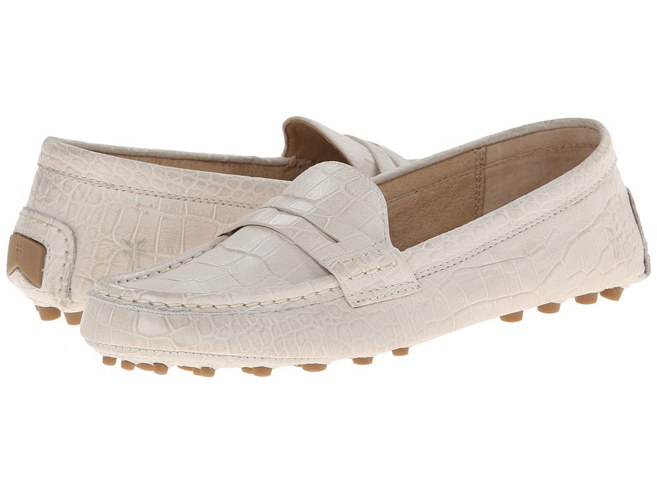 Frye - Rebecca Penny (Off White Embossed Full Grain) Women's Slip on Shoes