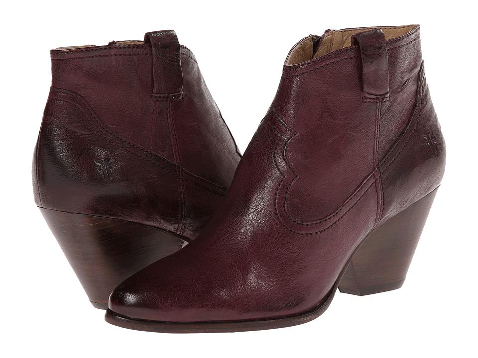 Frye - Reina Bootie (Eggplant Antique Soft Vintage) Cowboy Boots