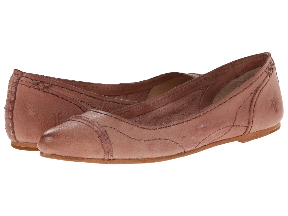 Frye - Riley Artisan Ballet (Dusty Rose Tumbled Full Grain) Women's Dress Flat Shoes