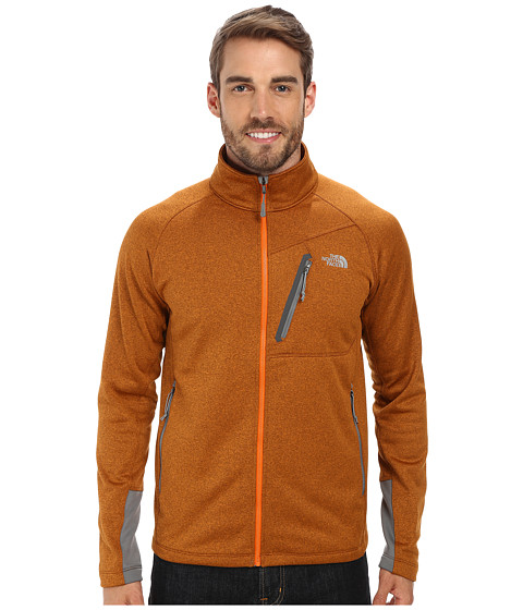 The North Face - Canyonlands Full Zip Jacket (Burnished Orange Heather) Men