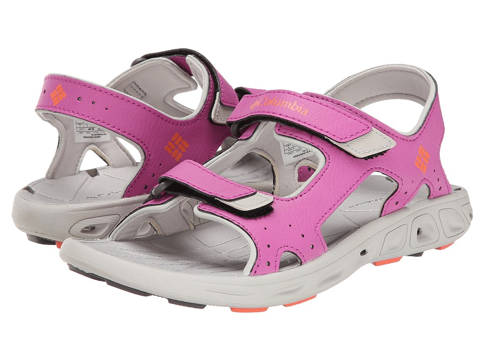 Columbia Kids - Techsun Vent (Toddler/Little Kid/Big Kid) (Foxglove/Coral Flame) Girl