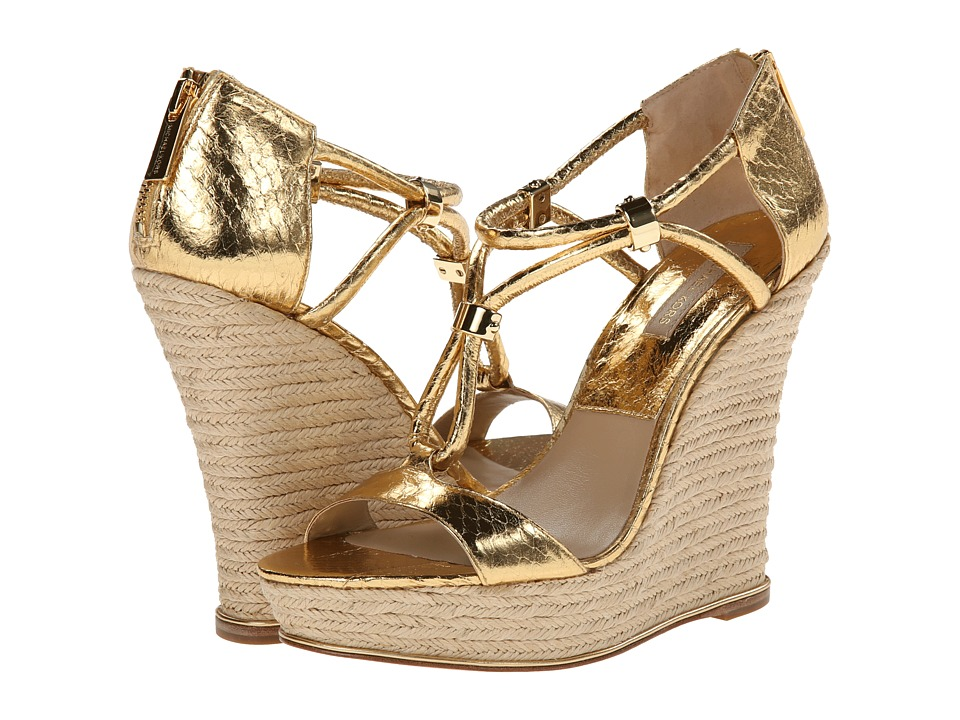 Michael Kors - Sherie (Gold 18K Metallic Genuine Snake/Specchio) Women's Wedge Shoes