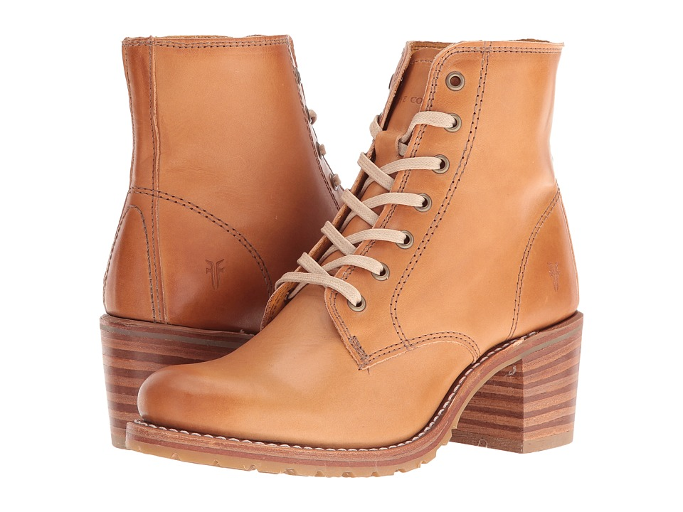 Frye - Sabrina 6G Lace Up (Tan Smooth Vintage Leather) Women's Lace-up Boots